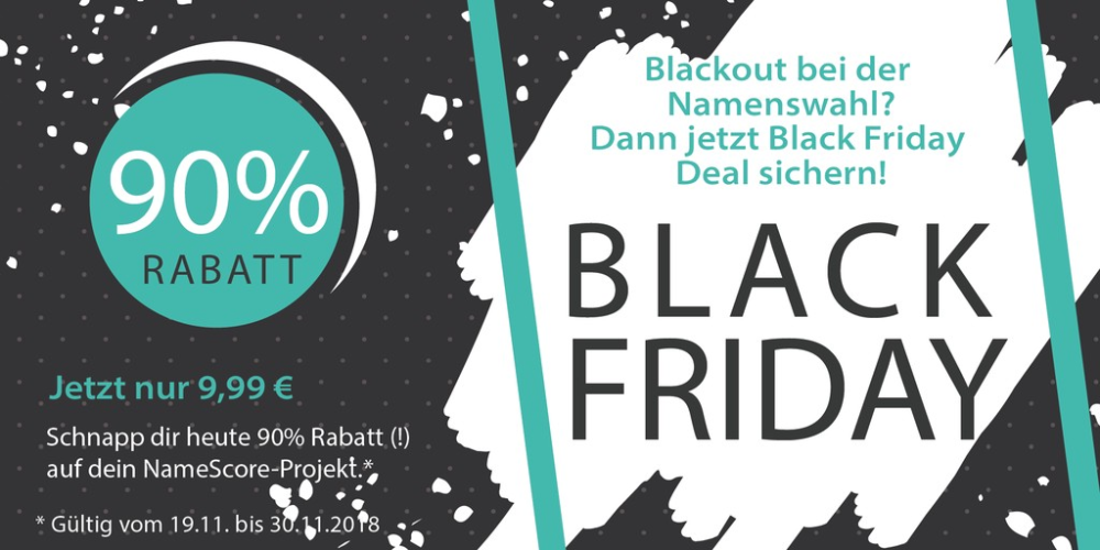 Black Friday Deal für NameScore