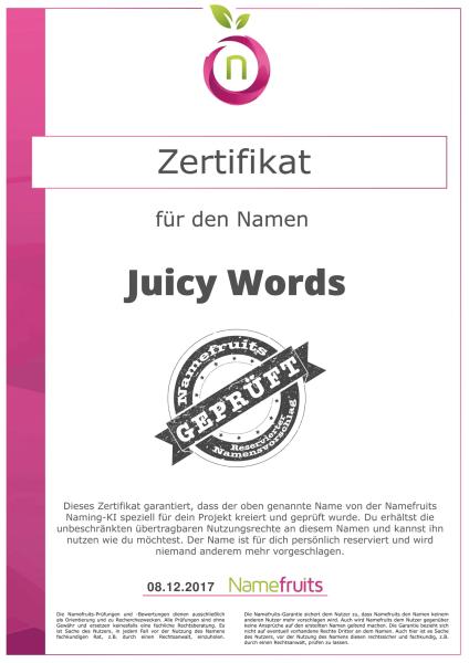 Geschäftsnamen Kriterien Überblick – Zertifikat